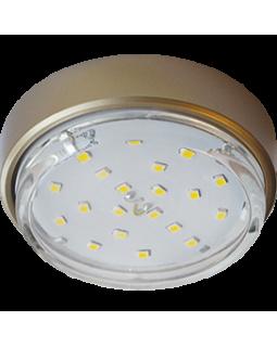 Светильник накладной для КЛЛ GX53,18*83, золото, б/л
