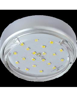 Светильник накладной для КЛЛ GX53, 18*83, серебро, б/л