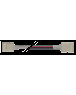 Коннектор для светодиодной ленты SMD5050 RGB 10мм 4-pin + провод 15см + 10мм 4-pin