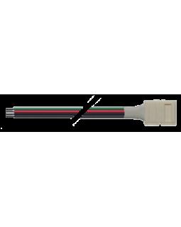 Коннектор для светодиодной ленты SMD5050 RGB 10мм 4-pin + провод 20см