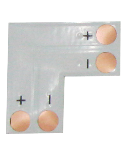 Гибкая соед. плата L для зажимного разъема SMD3528 8мм 2-pin