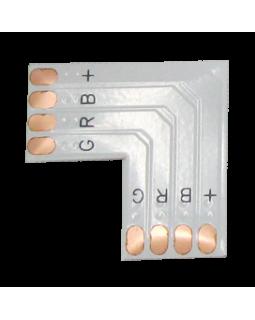 Гибкая соед. плата L для зажимного разъема SMD5050 RGB 10мм 4-pin