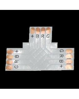 Гибкая соед. плата T для зажимного разъема SMD5050 RGB 10мм 4-pin