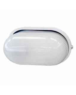 Светильник накл.для Л.Н.100 Вт IP54 овал белый без решётки