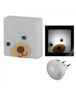 Светильник ночник LED с датчиком освещенности NN-630-LS-BR бурый