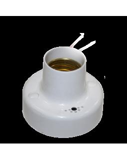 Светильник-патрон для ЛН 100Вт Е27 с оптико-акустическим датчиком