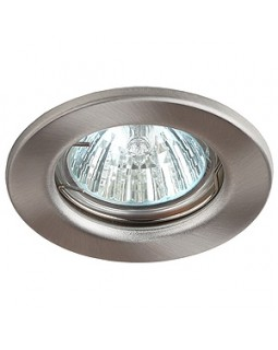 Светильник встраиваемый для Г.Л. 50Вт  МР16 сатин никель