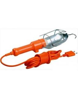 Светильник переносной УП-1Р 60Вт Е27 плоская вилка (с выкл.) 2Р/5метров 2х0,75
