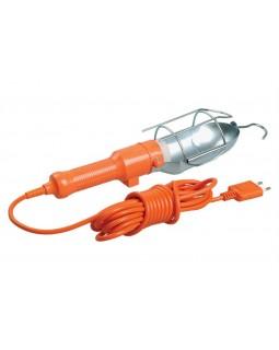 Светильник-переноска УП-1Р 60Вт Е27 плоская вилка (с выкл.) 2Р/10метров 2х0,75