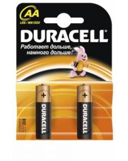 Батарейки Duracell AA алкалиновые 1.5V LR6   (1шт)