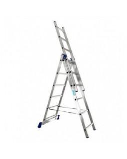 Лестница 3-секционная 3x16 АЛЮМЕТ