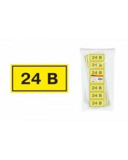 Символ «24 В» 40х20 мм IEK