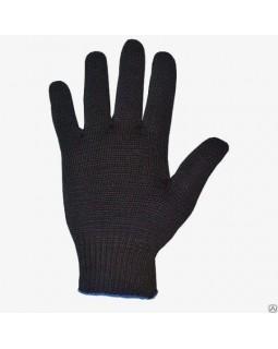 Перчатки 5 нитка х/б без ПВХ черные
