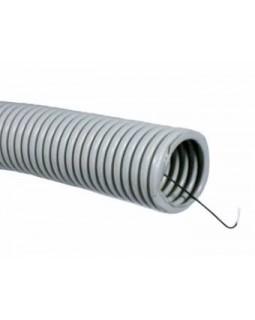 Труба гибкая легкая с протяжкой ф16 (бухта 100 м)