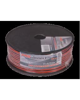 Кабель акустический 2х0.75 кв.мм красно-черный (100м) ProConnect
