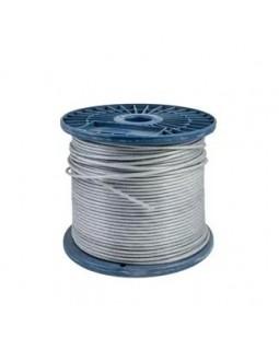 Тросс в оплетке для растяжки стальной, круглопроядный в оплетке ПВХ 2/3 мм