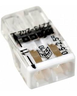 Клемма компактная с пастой 2х(0,5-2,5) мм2