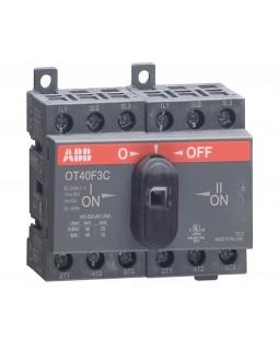 Реверсивный рубильник 40А 3-пол. OT40F3C для установки на DIN-рейку или монтажную плату