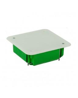 Коробка монтажная разветвительная 106х106х45 мм с крышкой для полых стен металл. лапки, IP 30