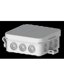 Коробка монтажная распределительная 72x72x31мм с крышкой для открытого монтажа, 12 вводов, IP54