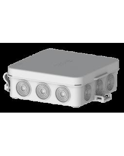 Коробка монтажная распределительная 87x87x31мм с крышкой для открытого монтажа, 12 вводов, IP54