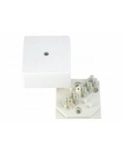 Коробка разветвительная для открытой установки 56x56x28 мм, с клеммником