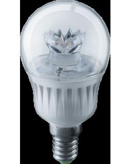 Лампа светодиодная 7 Вт 230В Е14 шарик прозрачный, тёплый белый 71 856