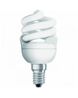 Лампа энергосберегающая 12 Вт Е14 тонкая спираль, тёплый 2700К