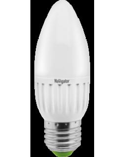 Лампа светодиодная 5 Вт 230В Е27 свеча, тёплый белый 94 481