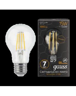 Лампа светодиодная 15 Вт 230В Е27 Filament Graphene A60, тёплый 2700К