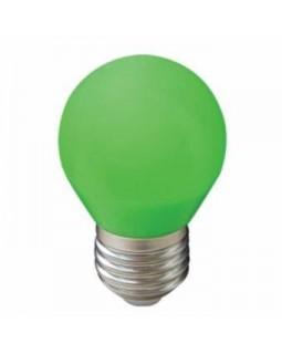 Лампа светодиодная 2,6W G45 220V E27 Green шар Зелёный матовая колба