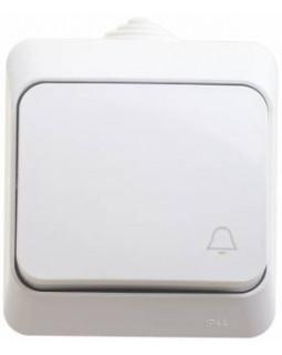 Выключатель 1 клавишный IP44 белый Этюд