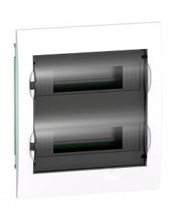Щит встраиваемый 24мод.(2х12) с прозрачной дверью, IP40, IK07, 63А, 2 клеммы