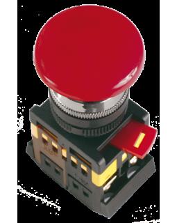 """Кнопка управления """"Грибок""""с фиксацией красная 230В d22мм 1з+1р IP40 тип AEAL-22"""