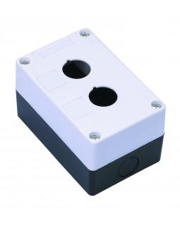 Корпус для кнопок 2места белый тип КП102