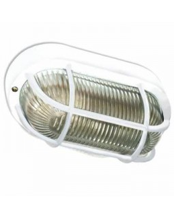 Светильник накл.для Л.Н.60 Вт IP44 овал прозрачный решетка