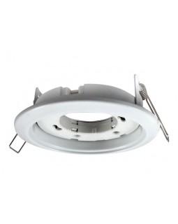 Светильник встраиваемый для КЛЛ(LED) 15Вт GX53, Ø106×39, без лампы белый