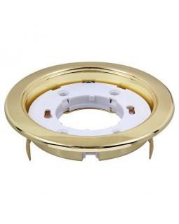 Светильник встраиваемый для КЛЛ(LED) 15Вт GX53, Ø106×39, без лампы золото глянцевое