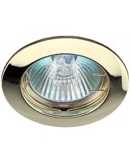 Светильник встраиваемый для Г.Л. 50Вт  МР16, золото