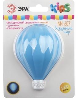 Светильник ночник LED с датчиком освещенности NN-607-LS-BU синий