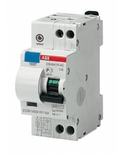 Автомат. выкл. дифф. тока 1-пол.+N 16А 30мА тип АС 4,5 кА серия DSH941R
