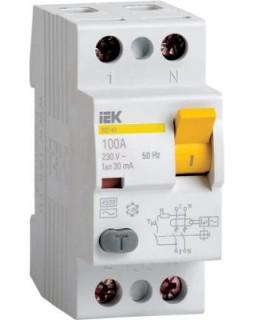 Выкл. дифф. тока 2-пол. 25А 30 мA тип АC серия ВД1-63