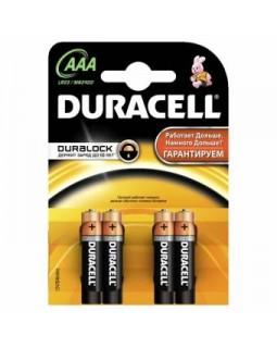 Батарейки Duracell AAA алкалиновые 1.5V LR03   (1шт)