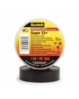 Scotch Super 33+ изоляционная лента высшего класса, 19мм х 20м х 0,18мм (от -40 до +106 градусов)