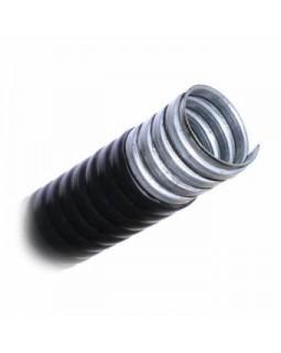 Металлорукав в ПВХ изоляции Dвнутр.= 32мм, Dнаружн=40 мм (бухта 20м), негорючий черный