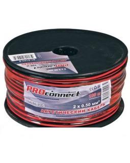 Кабель акустический 2х0.50 кв.мм красно-черный (100м) ProConnect