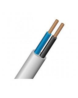 Шнур 2х0.5 кв.мм медный 0.4 кВ гибкий с ПВХ изоляцией