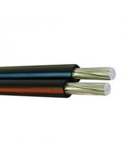 Провод самонесущий изолированный 2х16 кв.мм алюминиевый 0,66/1 кВ с ПЭ изоляцией