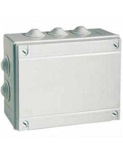 Коробка монтажная распределительная 120х80х50 мм с крышкой для открытого монтажа, 6 вводов, IP 55