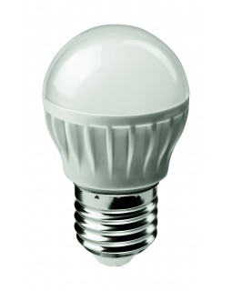 Лампа светодиодная 6 Вт 230В Е27 шарик, 6500К холодный белый ОНЛАЙТ